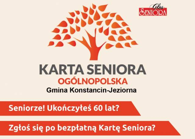 Ogólnopolska Karta Seniora już od maja 2017 r. w Konstancinie - Jeziornej